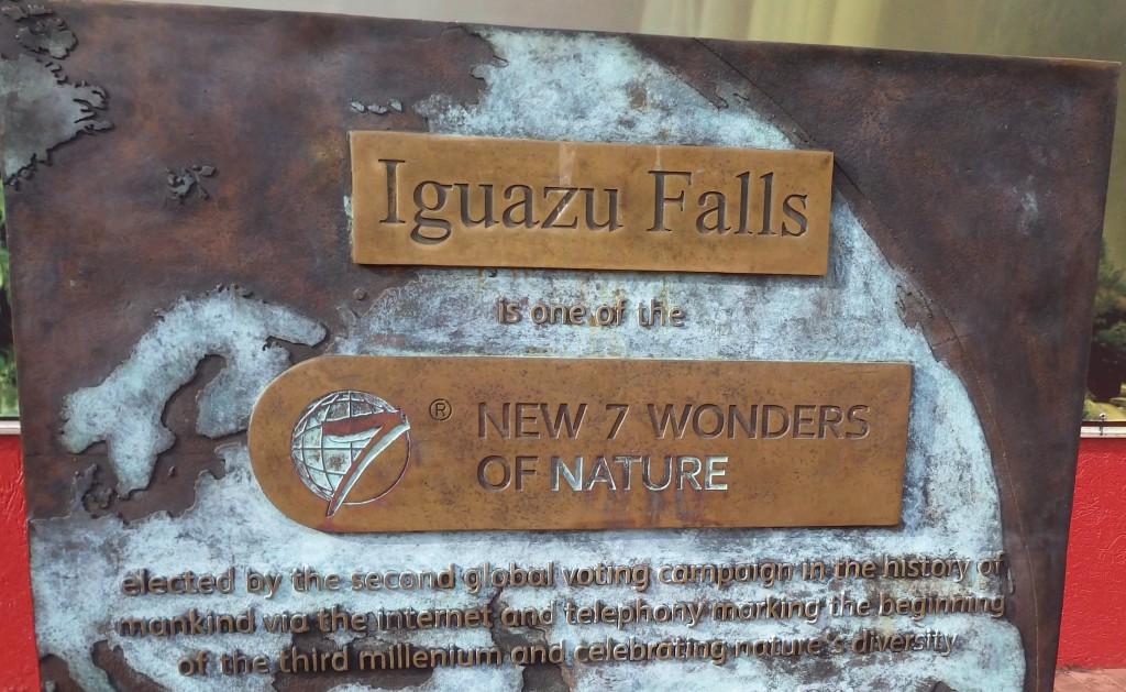 Iguassu falls sign
