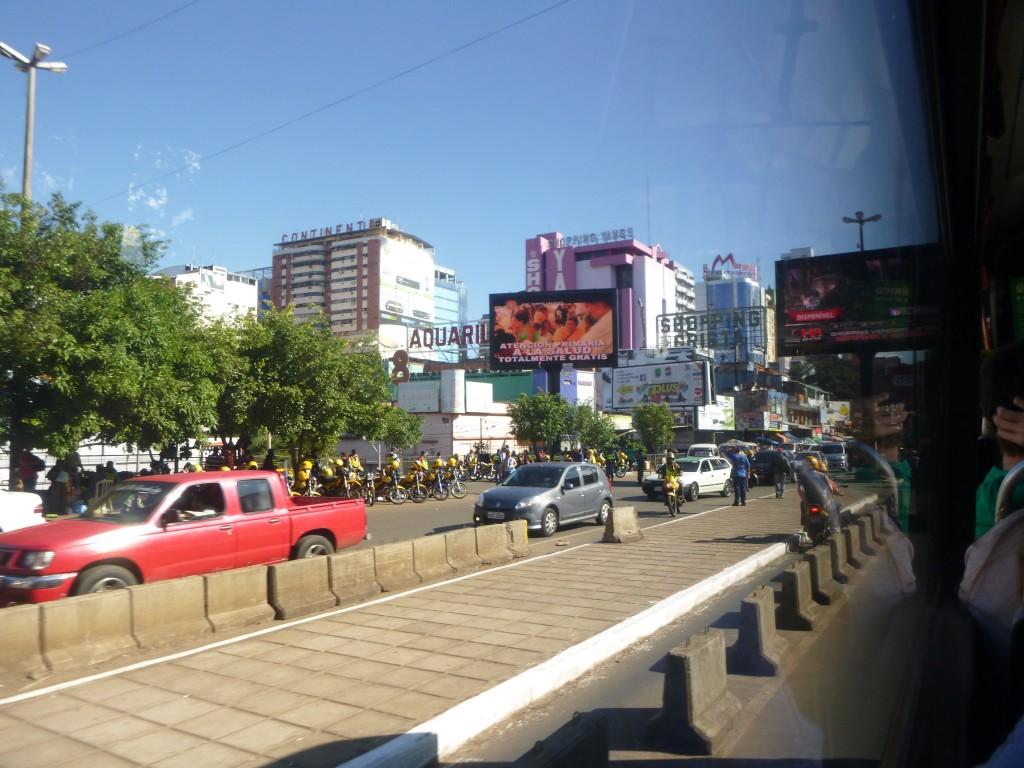 Entering Ciudad Del Este in Paraguay
