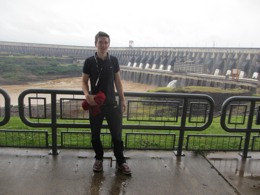Jack Bennet at the Itaipu Dam