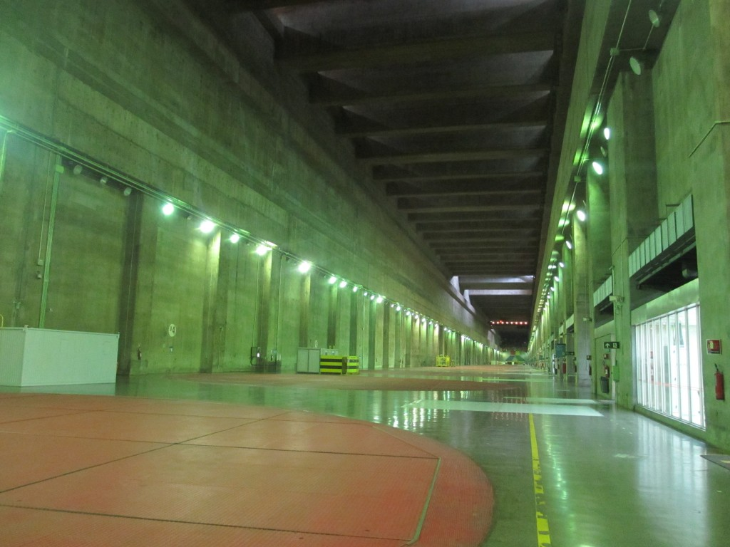 Turbine room at Itaipu Dam